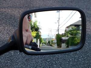 S3 純正ミラーの視界
