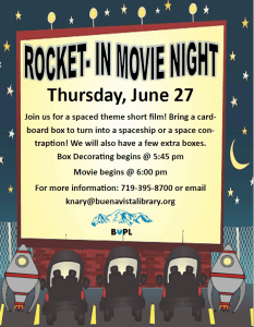 Rocket-In Movie @ Buena Vista Public Library | Buena Vista | Colorado | United States
