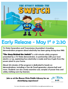 The Story Behind the Switch - Early Release Program @ Buena Vista Public Library   Buena Vista   Colorado   United States