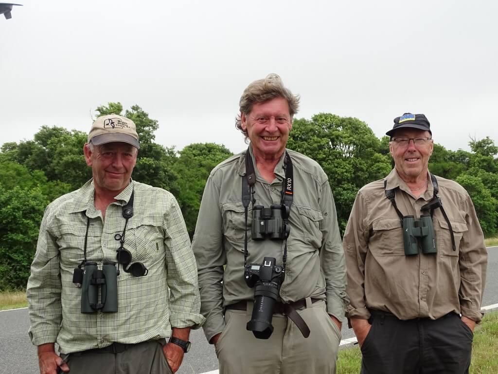Chris, Geoff and Ian at Samborombón, November 2018.