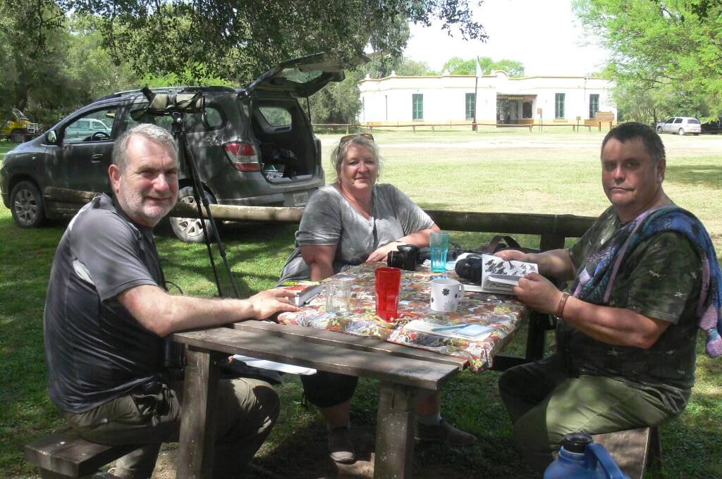 David, Lore and Michael at Otamendi National Park, March 2017.