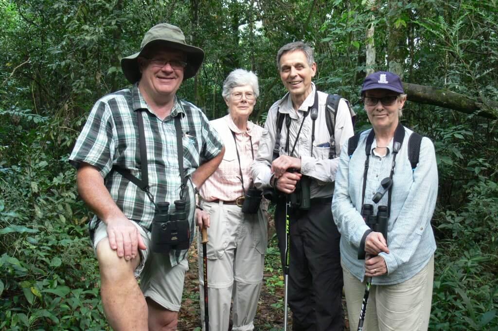 Peter, Barbara, Ron and Nicola at Iguazú Falls.