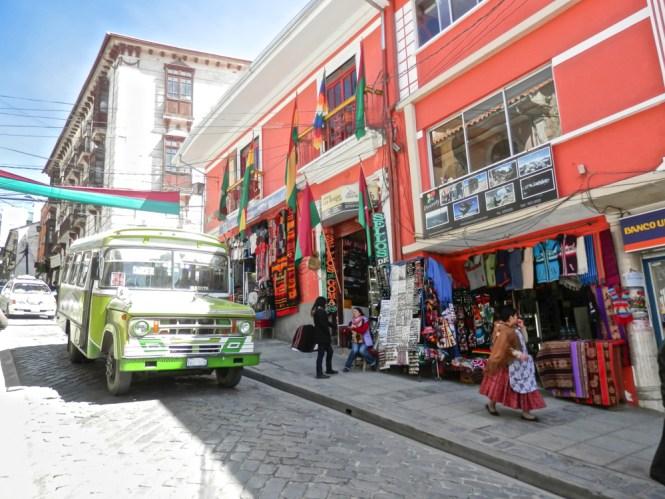 calle Sagárnaga La paz en Bolivie