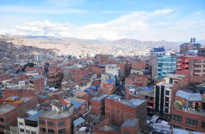 ville de La paz en bolivie