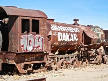 Cimetière de trains visiter le Salar d'Uyuni en bolivie