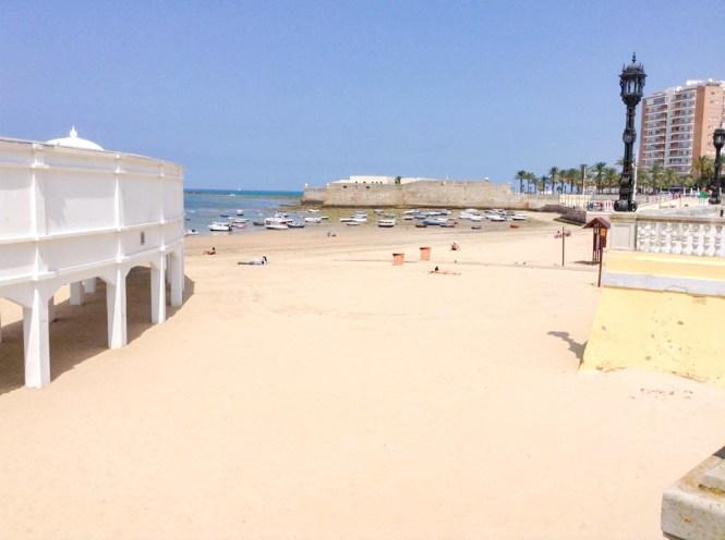 La plage de Caleta Cadix