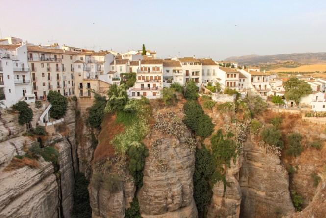 visiter Ronda en andalousie vue maisons