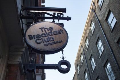 panneaux The Breakfast club Un week end a Londres