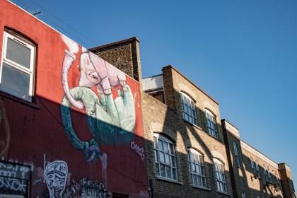 éléphants Brick Lane Street Art Un week end a Londres