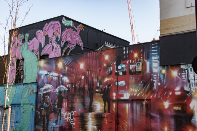 bus Brick Lane Street Art Un week end a Londres