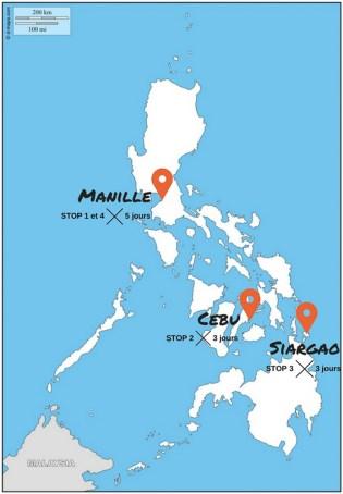 carte de pays Voyage Philippines