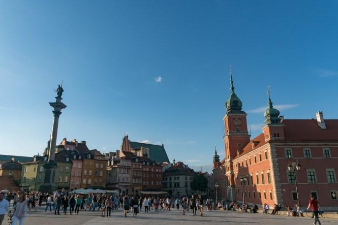 Visiter Varsovie Le château royal Zamek Krolewski vue