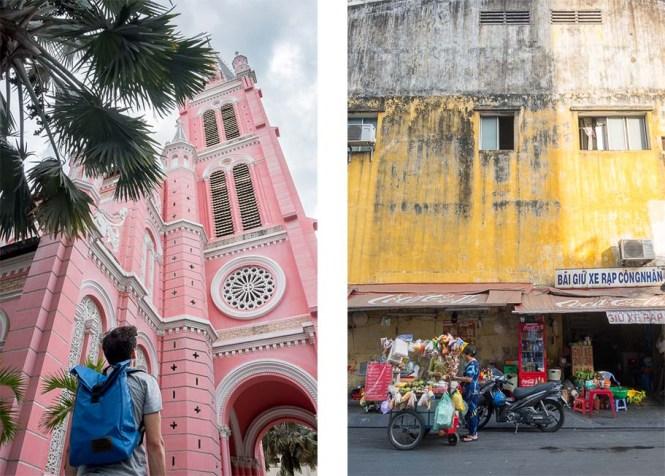 église rose Tan Dinh Itinéraire au Vietnam HCMC