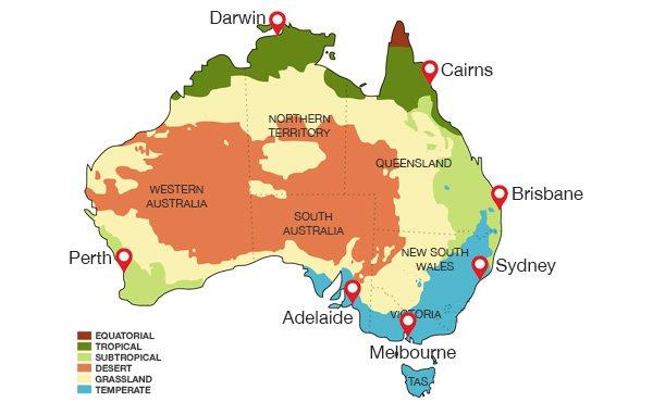 clima australia PARTIR en australie
