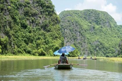 Rameur à pied baie d'halong terrestre tam coc