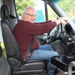 Udo auf Fahrersitz