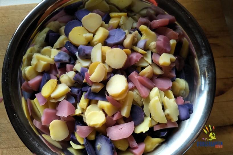 Als kleine Stärkung gab's hinterher kunterbunten Kartoffelsalat.