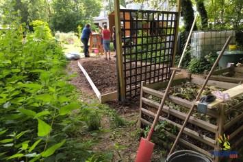 Garten aufgeräumt, QiGong-Gäste noch nicht da: Ruhe vor dem Sturm ;-)