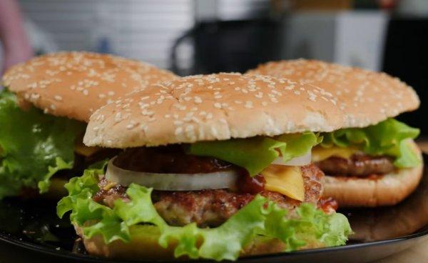 Домашний гамбургера от Славного Друже Обломов рецепт с ...