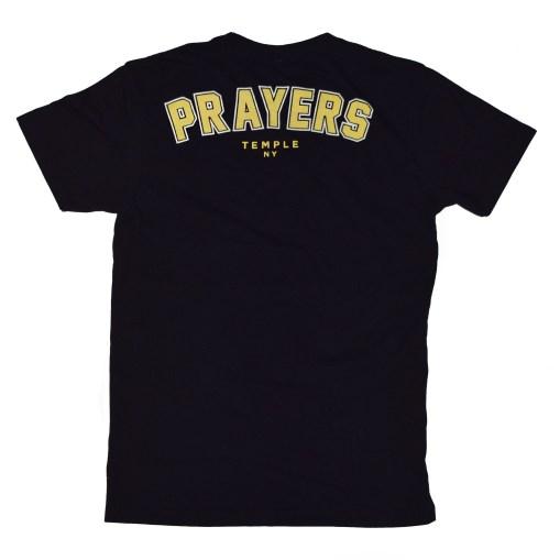 prayers+back+product temple NY t shirt.