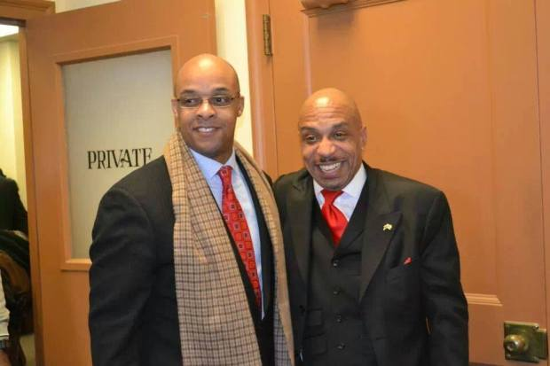"Antoine Thompson with Rev. Darius Pridgen, who is currently serving as President of the Buffalo Common Council. Pridgen is rumored to be ""next in line"" to become Mayor, some have speculated. Both men are close to the current Mayor, Byron Brown."