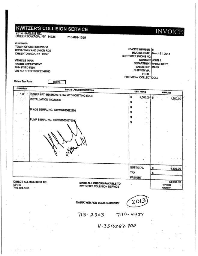 Kwitzer Invoices 4