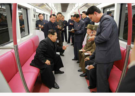 Great leader in new PyongYang subway 3
