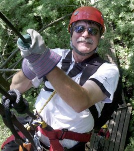 The Author On A Zip Line