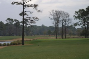 Approach to the par 4 12th hole