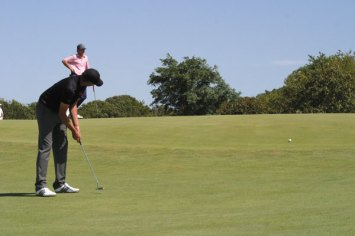 This putt from Raymond (GBI) would come back forty yards off the green