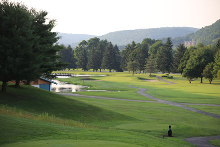 View At Dusk From Elevated 7th Tee