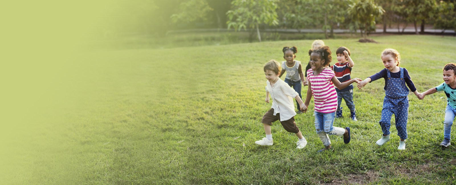 kids running outside together