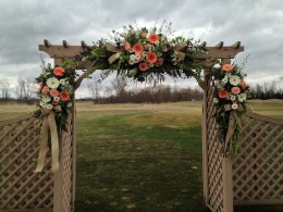 Flowers by Lipinoga Florist of Clarence NY for Wedding at Timberlodge in Akron NY (29)