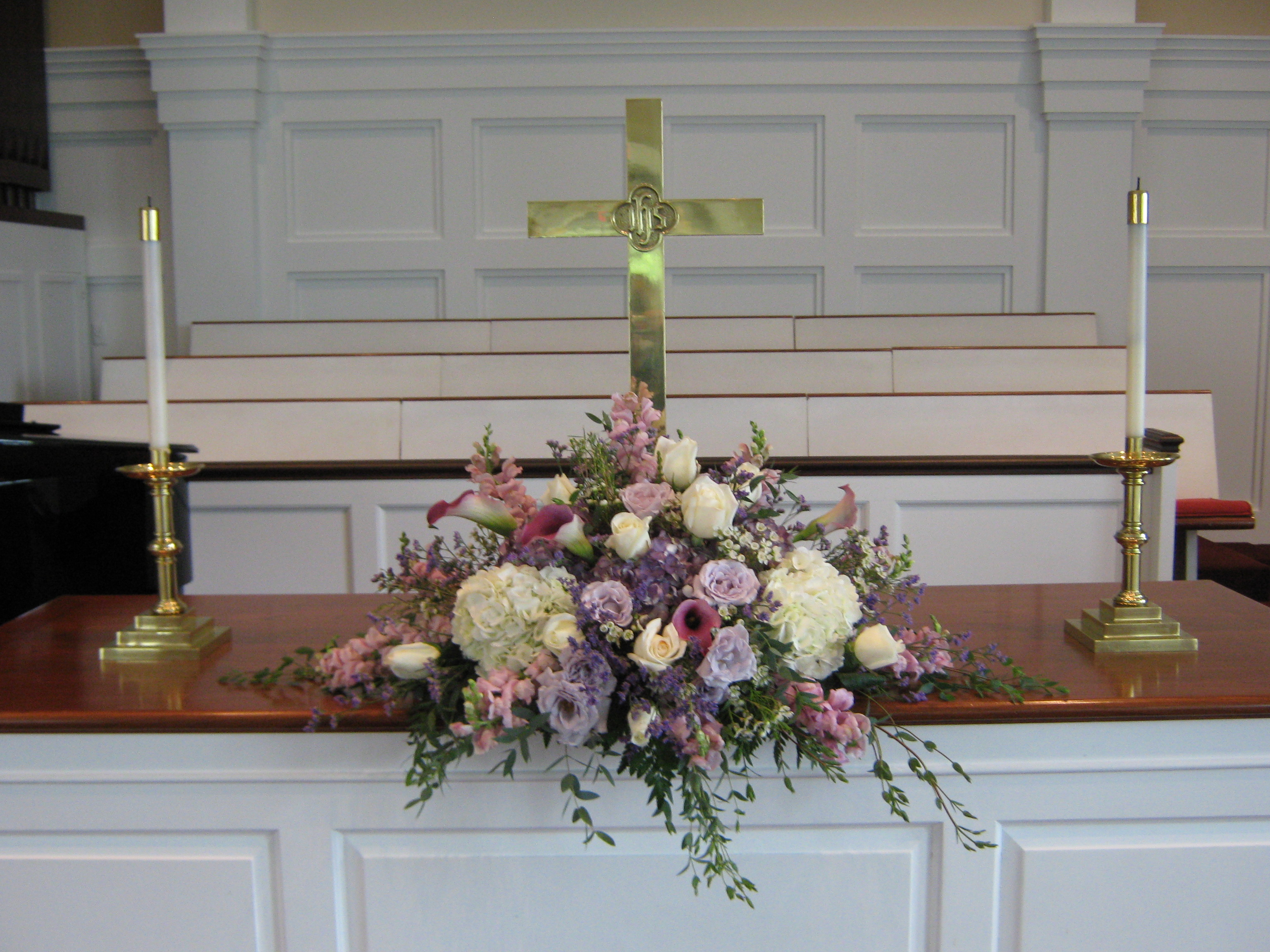 Wedding Ceremony Flowers At Clarence First Presbyterian