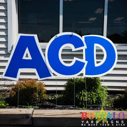 Blue yard sign letters for birthday yard signs, retirement yard signs, graduation yard signs,