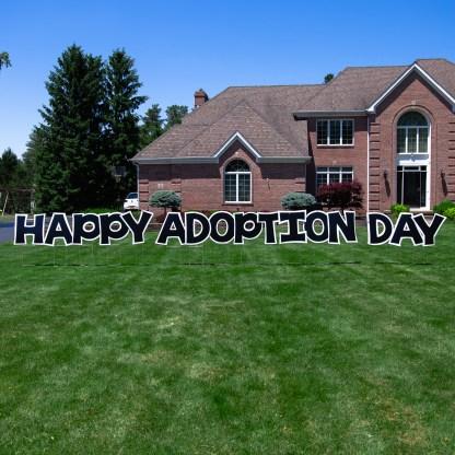 Happy Adoption Day Yard Sign