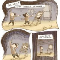 """""""Draw Like Nobody's Watching"""" by @dearconnie Print…"""