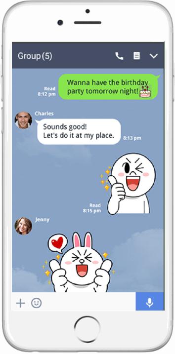 Line app screenshot