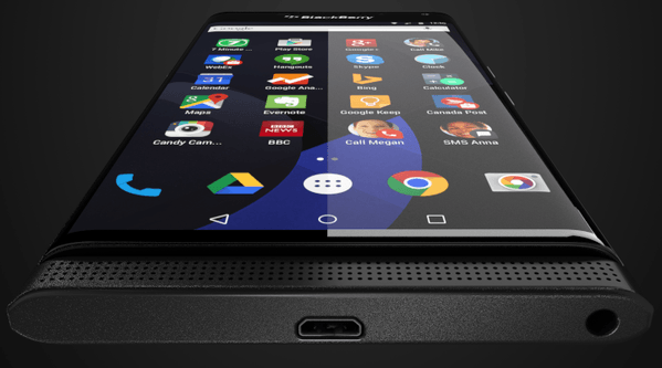 BlackBerry Venice : Android interface, complete with Google apps