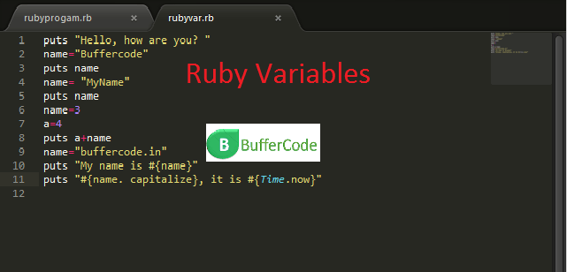 Ruby Variables: Defining And Using Ruby Variables
