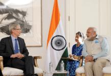 Prime Minister Narendra Modi meets Tim Cook
