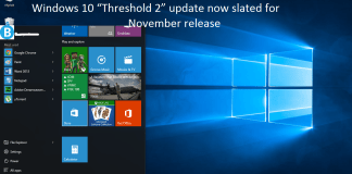 Threshold 2: Window 10's first update is expected to come in November