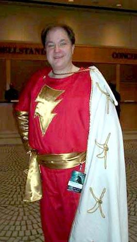 guy in Captain Marvel costume