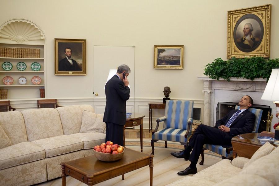 Barack Obama and Rahm Emanuel