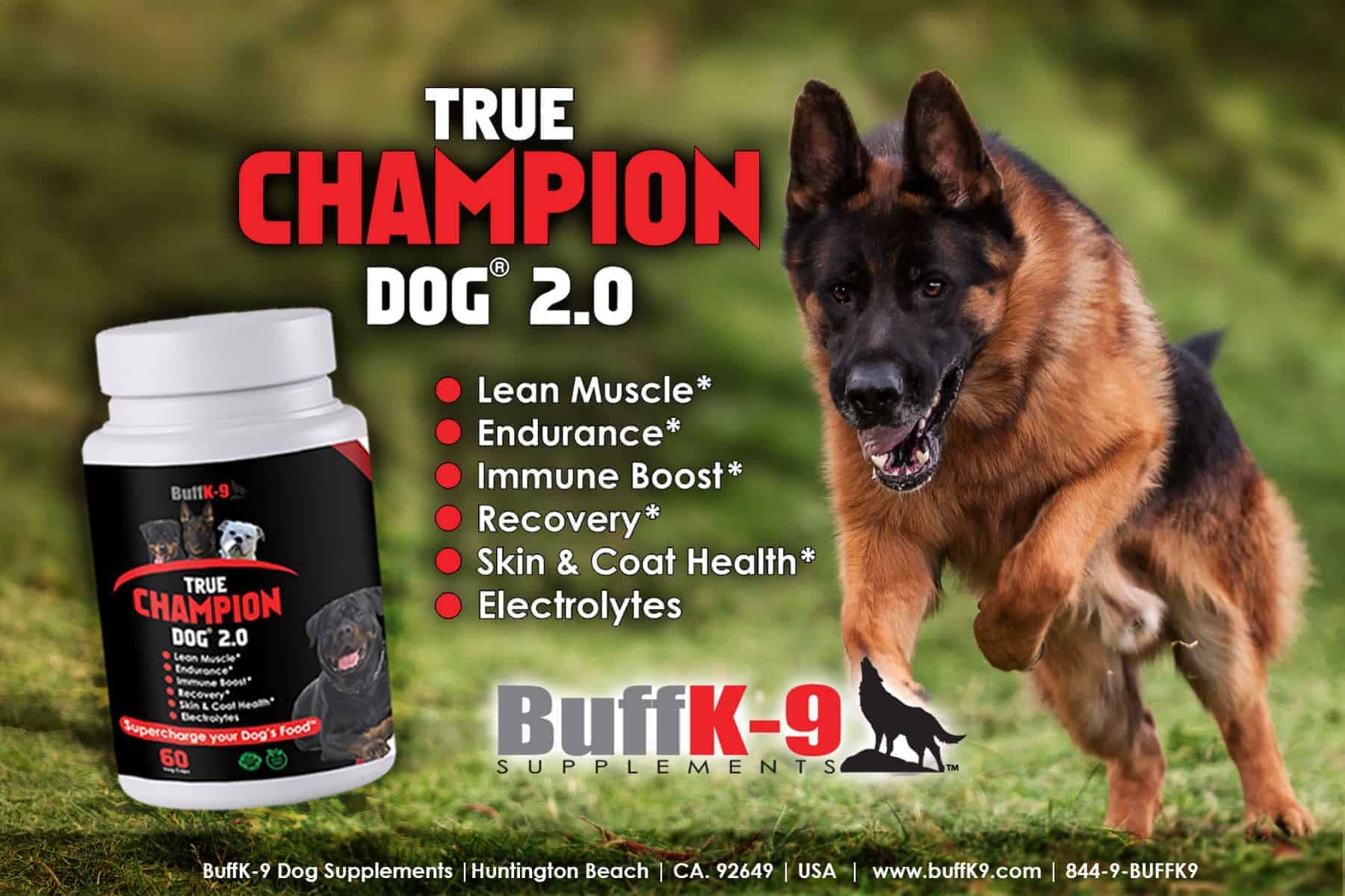 buffk9 german shepherd dog vitamin supplements health endurance