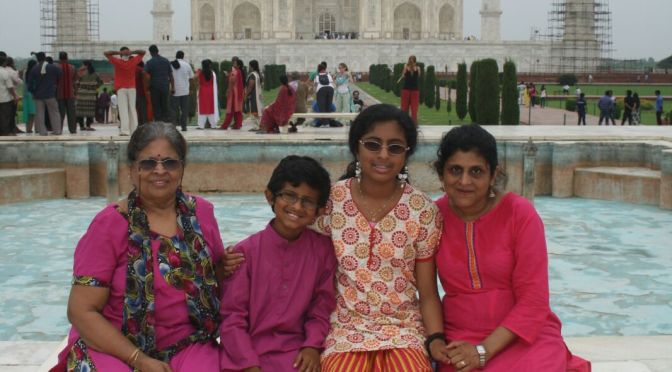 Veena and family at the Golden Triangle, India