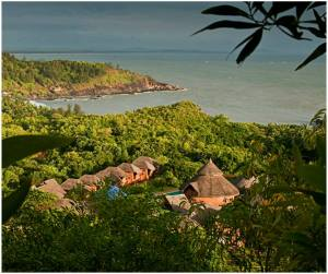 SwaSwara Ayurveda and Yoga on Om Beach_aerial view (1)