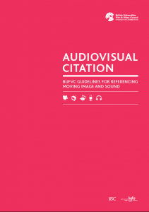 BUFVC Audiovisual Citation Guidelines