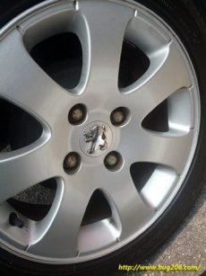 Without the wheel nut covers