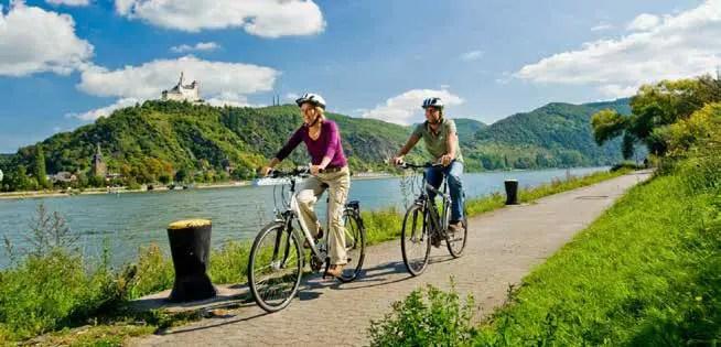 Dank Rheintalradweg, Rheinsteig und RheinBurgenWeg wird die BUGA 2031 auch mit dem Rad oder zu Fuß gut zu erreichen sein. (Foto © Rheinland-Pfalz Tourismus GmbH/Dominik Ketz)
